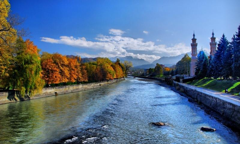 река Терек во Владикавказе