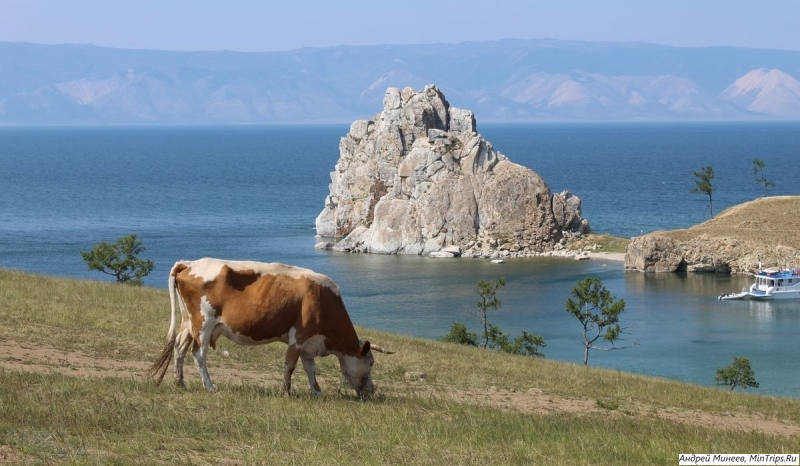 скала Шаманка остров Ольхон фото