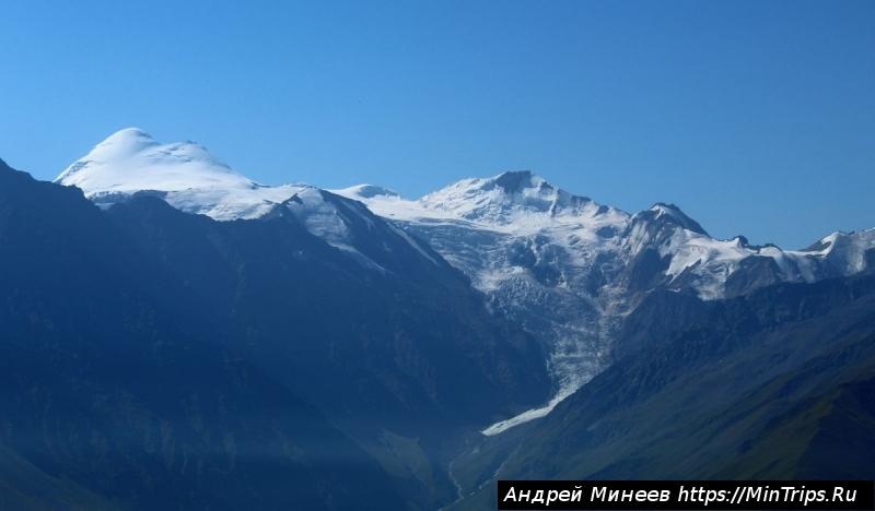 гора Казбек с вершины Чизджыты-хох